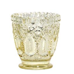 """Hosley Set of 8 Gold Glass Candle Holder - 3.15"""" High. Ideal"""