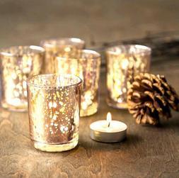Gold Mercury Glass Votive & Tea Light Candle Holder - David