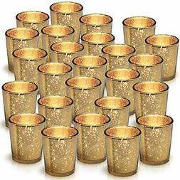 Granrosi Gold Mercury Votive Candle Holder Set of 25 Made of