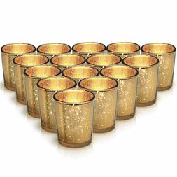 Gold Mercury Votive Candle Holder Set of 15 - Speckled Gold