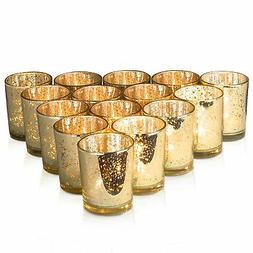 Granrosi Gold Mercury Votive Candle Holder Set of 15 - Speck
