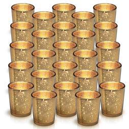 Granrosi Gold Mercury Votive Candle Holder Set of 25 - Made