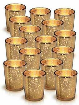 Granrosi Gold Mercury Votive Candle Holder Speckled Gold Fin