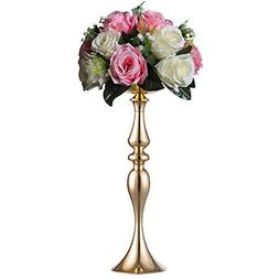 Sziqiqi 59 cm Gold Height Metal Candle Holder Candle Stand W