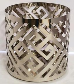 Yankee Candle Greek Isle Silver Metal Jar Pillar Candle Hold