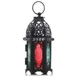 Hallow Moroccan Hanging Lantern Tea Light Candle Holder Home