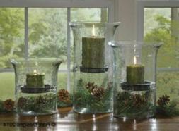 """Park Designs Hammered Glass Cylinder Candle Holder ~ 9"""" Size"""