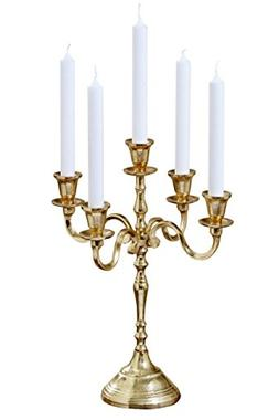 Whole House Worlds The Hamptons Five Candle Golden Candelabr