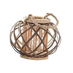 Baoblaze Handheld/Hanging Candlestick Wicker Rope Woven Cand