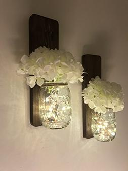 Tennessee Wicks Handmade Rustic Country Mason Jar Wall Sconc