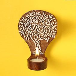 Hashcart Handmade Tea Light Candle Holder/Wooden Candle Ligh
