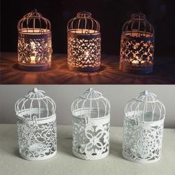 Hanging Bird Cage Candles Holder Retro Iron Candlestick Lant