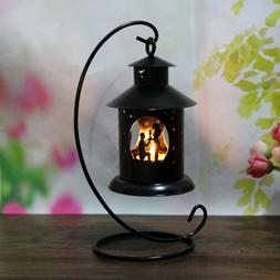 Hanging Candles Holder Retro Iron Candlestick Lantern Home P