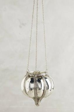 Anthropologie Hanging Mercury Glass Lantern Candle Holder Si