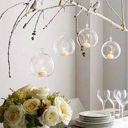 Sziqiqi 10Pcs/18Pcs 80MM Hanging Vase Hanging Candle Holder