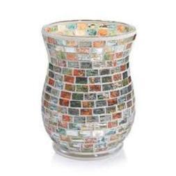 Yankee Candle Havana Glass Mosaic Hurricane Jar Candle Holde