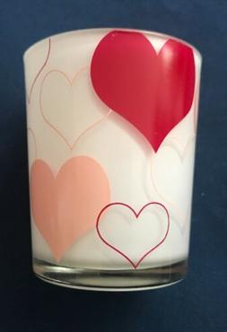 YANKEE CANDLE HEART PINK RED TEALIGHT HOLDER HARD TO FIND NE