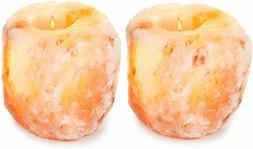 Himalayan Natural Crystal Salt Rock Tea Light Candle Holder
