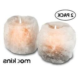 mockins Natural Himalayan White Salt 2.5-lbs Tea Light Holde