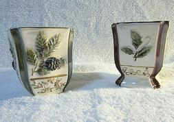 YANKEE CANDLE Holder Votive Winter Holy Berry & Evergreen Pi