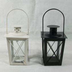 Hollow Metal Lantern Candle Holder Garden Night Wedding Outd