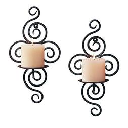 Sziqiqi Home Candlestick Holders Handmade Iron Hanging Wall