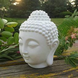 Home Decoration Aroma Oil Burner Ceramic Buddha Head Candle