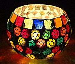 Hare Krishna Home Handmade Glass Candle Holder Cup Table Dec