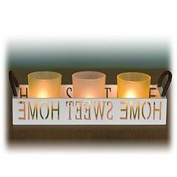 Dawhud Direct Home Sweet Home 3 Glass Candle Holder Set LED