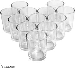 72 pcs Hosleys Crystal Clear Votive Tea Light Glass Candle H