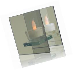 BANBERRY DESIGNS Infinity Tealight Candle Holder - Mirrored