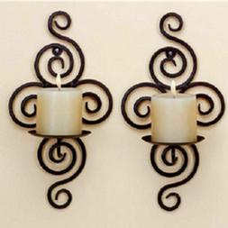 1pc Iron Art Sconce Candle Holder Hanging Wall Candlestick H