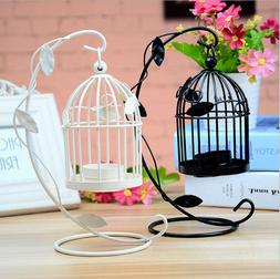 Iron Hanging Candlestick Candle Holder Bird Cage Lamp Weddin