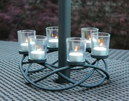 Iron Table Centerpiece Candle Holder