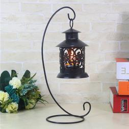 candle holder iron stand candlestick lantern hanging