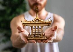 Japanese Pagoda Lantern! A Mini 3D Kit Tea Light Candle Hold