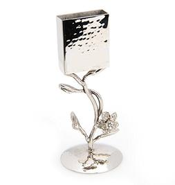 Classic Touch JSH09F Hammered Stainless Steel Havdalah Candl