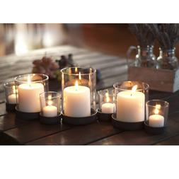 Danya B KF272 Accents Home Decor Candle Holders; Aged Metal