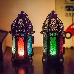 KM_ BL_ Moroccan Lantern Tea Light Lamp Candle Holder Hangin