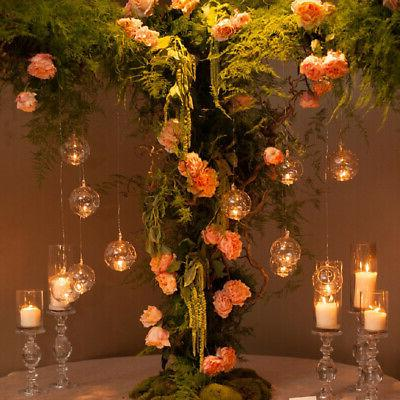 1/2PC Crystal Glass Candle Wedding Decor
