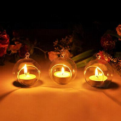 1/2PC Glass Candle Candlestick Wedding Decor HOT