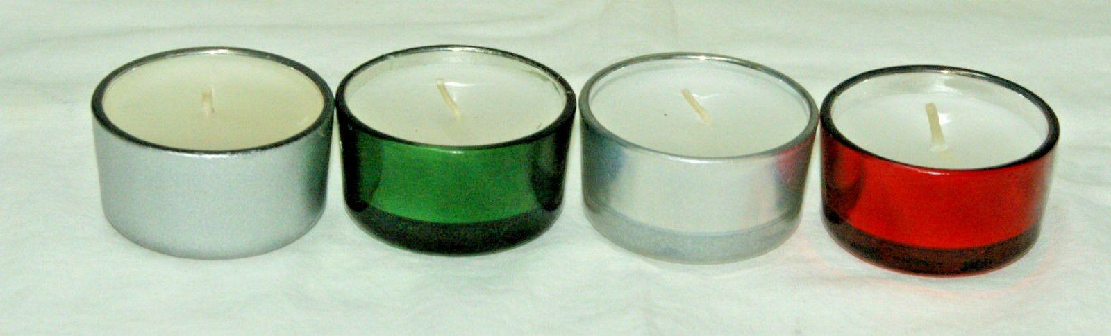1-TeaLight Scented Candle In Holder~4-Colors-4-Scents~To-Cho
