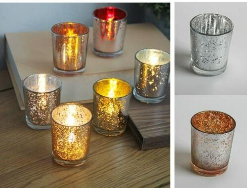 12 Pack Gold Candle Holder Event
