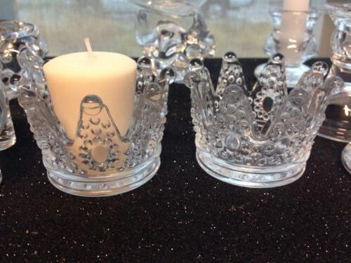 12-Princess Crown Candle Holder Favors Party Table Decoratio