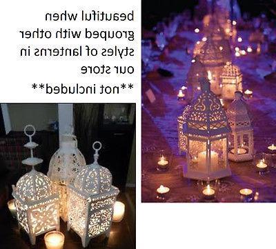 scrollwork Lantern wedding centerpiece
