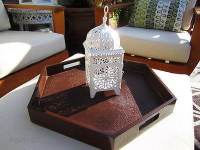 3 white scrollwork Lantern wedding table