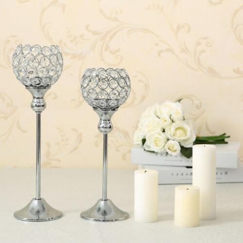 1pc Crystal Candle Holders Candlesticks Wedding Home Decor Gift US