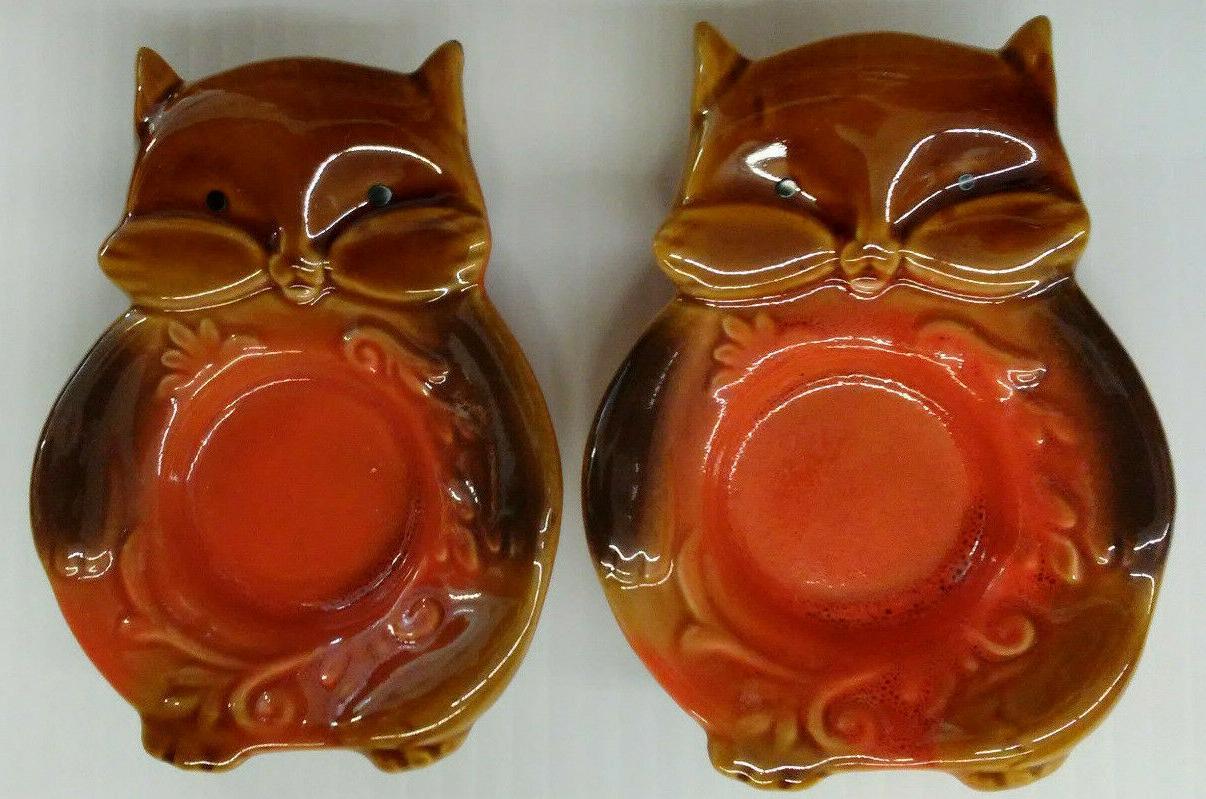2 ceramic cat tealight candle holders