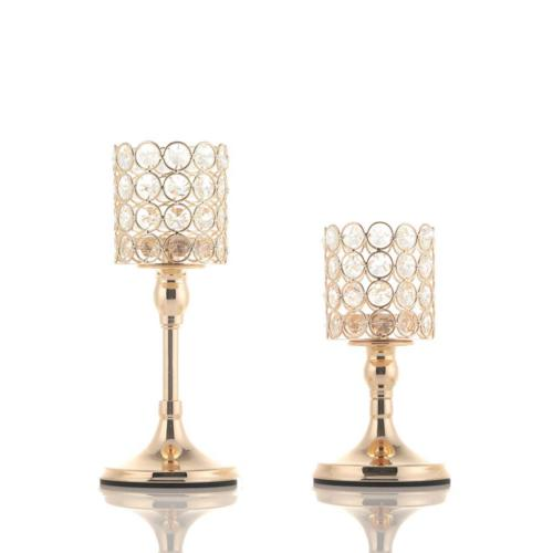 VINCIGANT 2 PCS Crystal Candle Holders for Mothers Day Home