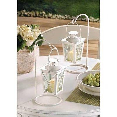 6 lot Small MINI white Candle Holder lantern wedding favor c